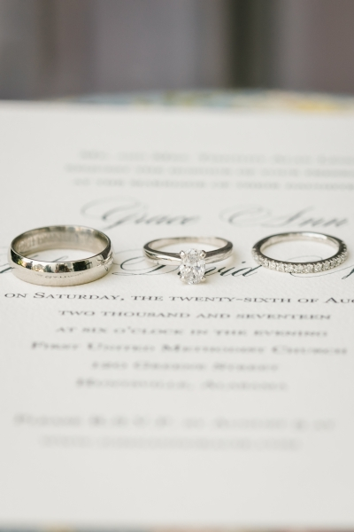 Rings on gorgeous stationery is one of my favorite photos of wedding details. I had to include it in my custom portfolio.