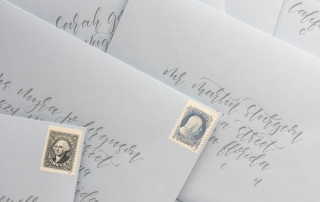 Including the proper amount of wedding invitation postage is incredibly important. Standard USPS stamps are one of three options for your postage. You also want to make sure your envelope addressing is correct. | Custom wedding invitations by Little Fox Paperie | Chicago, Illinois | Gracie Nunez