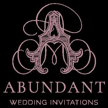 Abundant Wedding Invitations logo